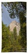 Mountain Peak In Yosemite National Park Beach Towel