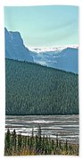 Mountain Peaks From Icefields Parkway-alberta Beach Towel