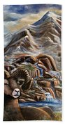 Mountain Ram Beach Towel