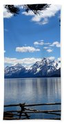 Mountain Reflection On Jenny Lake Beach Towel by Dan Sproul
