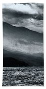 Mountain Storm Clouds Beach Towel