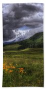 Mountain Storm Beach Towel