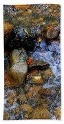 Mountain Stream In Autumn Beach Towel