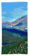 Mountain Top Color Beach Towel