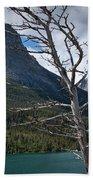 Mountain View At Glacier National Park Beach Towel