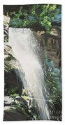 Mountain Waterfall Beach Towel