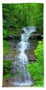Mountain Waterfall I Beach Towel