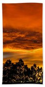 Mountain Wave Cloud Sunset With Pines Beach Towel