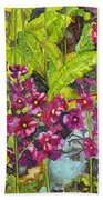 Mountain Wild Flowers Beach Towel