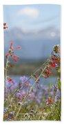 Mountain Wildflowers Beach Towel