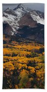 Mountainous Storm Beach Towel