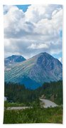 Mountains Along Cassiar Highway In Yt Beach Towel