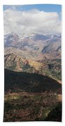 Mountains Along N9, Al Haouz Beach Towel