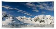 Mountains And Glaciers, Paradise Bay Beach Towel