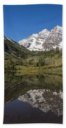 Mountains Co Maroon Bells 16 Beach Towel