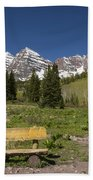 Mountains Co Maroon Bells 24 Beach Towel