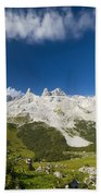 Mountains In The Alps Beach Towel