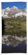 Mountains Maroon Bells 11 Beach Towel