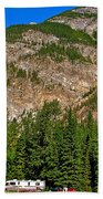 Mountains West Of Kicking Horse Campground In Yoho Np-bc Beach Towel