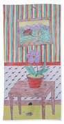 Mouse In The House Beach Towel