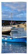 Mousehole Harbour Morning Beach Towel