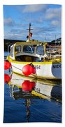 Mousehole Harbour Beach Towel