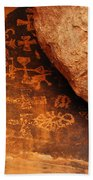 Mouse's Tank Petroglyph Canyon Beach Towel