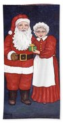 Mr And Mrs Claus Beach Towel