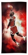 Mr. Michael Jeffrey Jordan Aka Air Jordan Mj Beach Towel