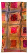 Ms Cool Goes Window Watching In Color Beach Towel