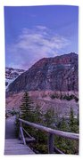 Mt. Edith Cavell Trail At Twilight Beach Towel