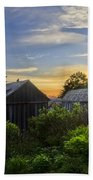 Mt Leconte Before Dawn Beach Towel by Debra and Dave Vanderlaan
