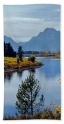 1m9208-mt. Moran And The Snake River, Wy Beach Towel