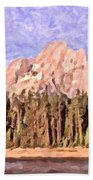 Mt Moran From Colter Bay Beach Towel