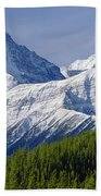 1m3627-mt. Outram And Mt. Forbes Beach Towel