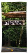 Mt Rainier Gateway Beach Towel