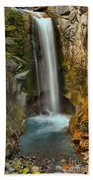 Mt Rainier Waterfall Beach Towel