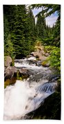 Mt. Rainier Waterfall Beach Towel