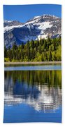 Mt. Timpanogos Reflected In Silver Flat Reservoir - Utah Beach Sheet