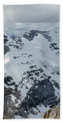T-703510-mt. Victoria Seen From Mt. Lefroy Beach Towel