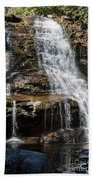 Muddy Creek Falls At Low Water At Swallow Falls State Park In Western Maryland Beach Towel