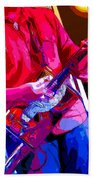 Muffler Guitar Beach Towel
