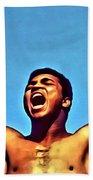 Muhammad Ali Beach Towel