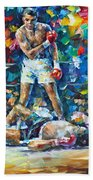 Muhammad Ali Beach Towel by Leonid Afremov
