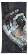 Muladhara - Root 'blue Hand' Chakra Mudra Beach Towel