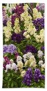 Multi-colored Blooms Beach Towel