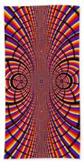 Multicolored Abstract Beach Towel
