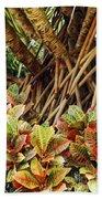 Multicolored Codiaeum Beach Towel