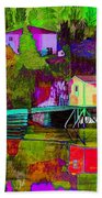 Multicolored Reflections Beach Towel