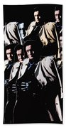 Multiple Johnny Cash's In Trench Coat 1 Collage Old Tucson Arizona 1971-2008 Beach Towel
